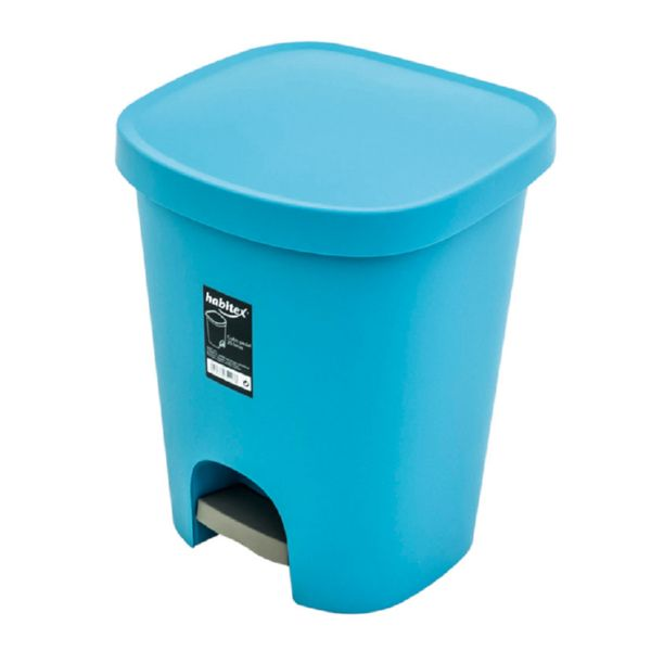 Arts. limpieza Habitex. Cubo pedal 25l azul